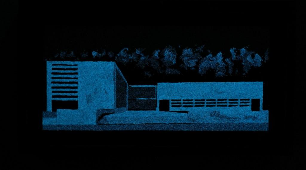 A110-Luigi Moretti Palazzina delle armi-37x18-45x25-notte